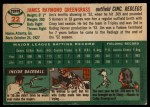 1954 Topps #22  Jim Greengrass  Back Thumbnail