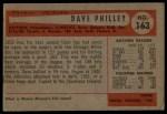 1954 Bowman #163 TR Dave Philley  Back Thumbnail
