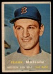 1957 Topps #355  Frank Malzone  Front Thumbnail