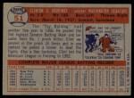 1957 Topps #51  Clint Courtney  Back Thumbnail