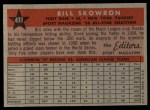 1958 Topps #477   -  Bill Skowron All-Star Back Thumbnail