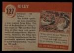 1954 Topps World on Wheels #127   Riley Back Thumbnail