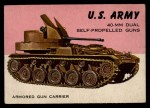 1954 Topps World on Wheels #62   40-mm M2 Dual Self-Propelled Guns Front Thumbnail