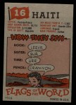 1956 Topps Flags of the World #16   Haiti Back Thumbnail