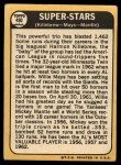 1968 Topps #490   -  Harmon Killebrew / Willie Mays / Mickey Mantle Super Stars Back Thumbnail