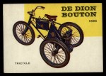 1954 Topps World on Wheels #112   De Dion Bouton Tricycle 1896 Front Thumbnail
