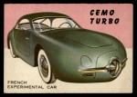 1954 Topps World on Wheels #18   Cemo Turbo Front Thumbnail