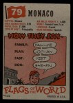 1956 Topps Flags of the World #79   Monaco Back Thumbnail