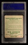 1933 Goudey #181  Babe Ruth  Back Thumbnail