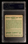 1933 Goudey Sport Kings #2  Babe Ruth   Back Thumbnail