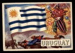 1956 Topps Flags of the World #60   Uruguay Front Thumbnail