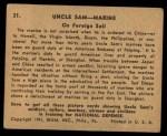 1941 Gum Inc. Uncle Sam Home Defense #31   On Foreign Soil Back Thumbnail