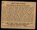 1941 Gum Inc. Uncle Sam Home Defense #26   Wall Scaling At Marine Recruit Depot Back Thumbnail