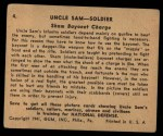 1941 Gum Inc. Uncle Sam Home Defense #4   Sham Bayonet Charge Back Thumbnail