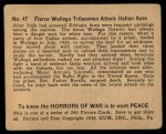 1938 Gum Inc. Horrors of War #47   Fierce Wallega Tribesmen Attack Italian Aces Back Thumbnail