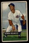 1951 Bowman #144  Herm Wehmeier  Front Thumbnail