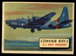 1957 Topps Planes #103 RED  Convair R4y-1 Front Thumbnail