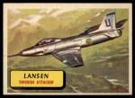 1957 Topps Planes #34 BLU  Lansen Front Thumbnail