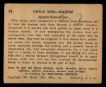 1941 Gum Inc. Uncle Sam Home Defense #35   Jungle Expedition Back Thumbnail