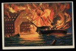 1954 Bowman U.S. Navy Victories #39   Military Stores Blown Up Front Thumbnail