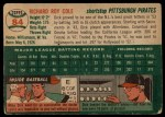 1954 Topps #84  Dick Cole  Back Thumbnail