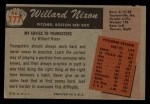 1955 Bowman #177  Willard Nixon  Back Thumbnail