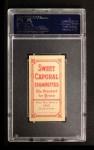 1909 T206 #70 ON Ty Cobb  Back Thumbnail