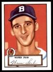 1952 Topps REPRINT #33  Warren Spahn  Front Thumbnail