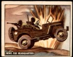 1950 Topps Freedoms War #135   News for Headquarters  Front Thumbnail