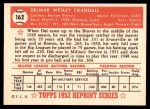 1952 Topps Reprints #162  Del Crandall  Back Thumbnail