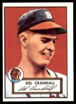 1952 Topps Reprints #162  Del Crandall  Front Thumbnail