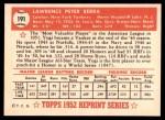 1952 Topps Reprints #191  Yogi Berra  Back Thumbnail