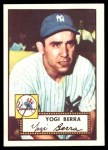 1952 Topps REPRINT #191  Yogi Berra  Front Thumbnail