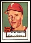 1952 Topps REPRINT #216  Richie Ashburn  Front Thumbnail