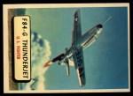 1957 Topps Planes #46 RED  F84-G Thunderjet Front Thumbnail