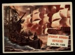1954 Topps Scoop #113   Spanish Armada Defeated Front Thumbnail