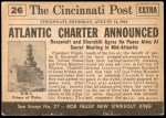 1954 Topps Scoop #26   Atlantic Charter Drafted  Back Thumbnail