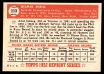 1952 Topps REPRINT #223  Del Ennis  Back Thumbnail