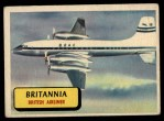 1957 Topps Planes #26 BLU  Britannia Front Thumbnail