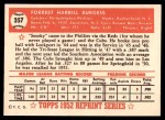 1952 Topps REPRINT #357  Smoky Burgess  Back Thumbnail