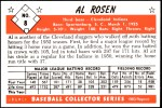 1953 Bowman Reprints #8  Al Rosen  Back Thumbnail