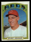 1972 Topps #358  Sparky Anderson  Front Thumbnail