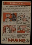 1956 Topps Round Up #21  Buffalo Bill   Back Thumbnail