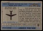 1957 Topps Planes #81 BLU  Dh-106 Comet Back Thumbnail