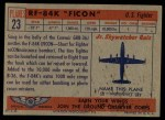 1957 Topps Planes #23 RED  F84-K Ficon Back Thumbnail