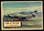 1957 Topps Planes #23 RED  F84-K Ficon Front Thumbnail