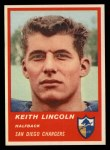 1963 Fleer #70  Keith Lincoln  Front Thumbnail