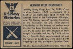 1954 Bowman U.S. Navy Victories #6   Spanish Fleet Destroyed Back Thumbnail