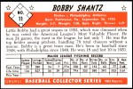 1953 Bowman REPRINT #11  Bobby Shantz  Back Thumbnail