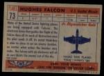 1957 Topps Planes #73 RED  Hughes Falcon Back Thumbnail
